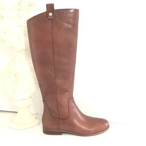 Sole Society Bramie Leather Boots Ginger